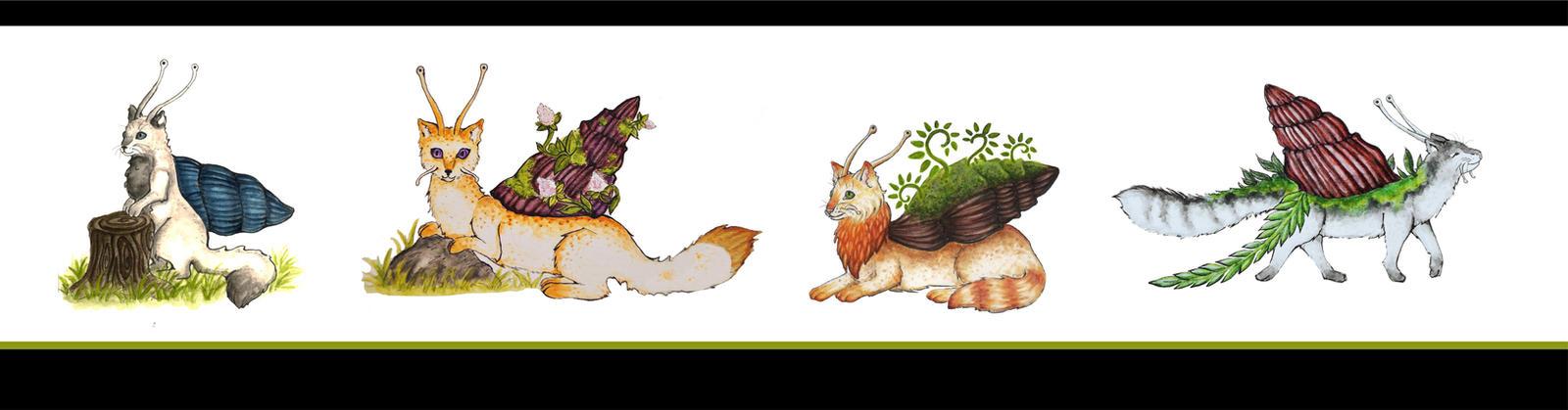 Katzschnecken Parade Catsnail parade by Mohn-Fuchs