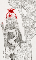 Traumafabel Inktober Blutfalter by Mohn-Fuchs