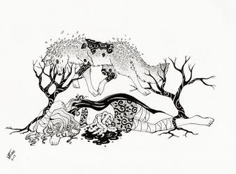 Traumafabel Inktober Wolf by Mohn-Fuchs