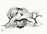Traumafabel Inktober Wolf