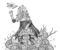 Wolf Blut Falter lineart/wolf girl blood moth by Mohn-Fuchs