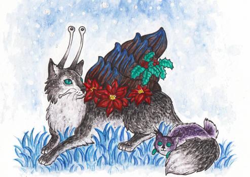 Christmas Catsnail / Weihnachts Katzenschnecke