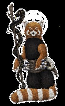 red pharmacist panda