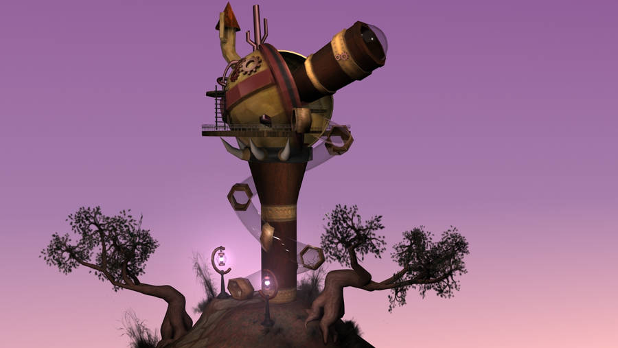 Steampunk Observatory by Akira-Ravenlier