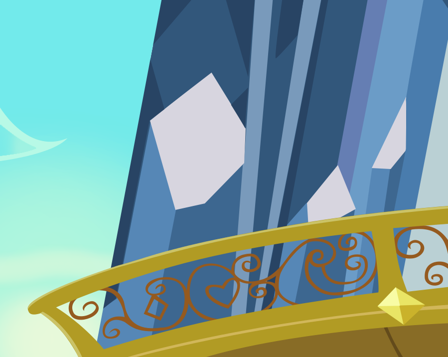Crystal castle balcony by mlp scribbles on deviantart for Balcony cartoon