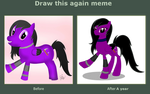 Draw This Again Meme 1 Year Later  by MLP-Scribbles
