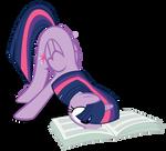 Twilight Reading The Foul Free Press Vector