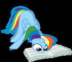 Rainbow Dash Reading The Foul Free Press Vector