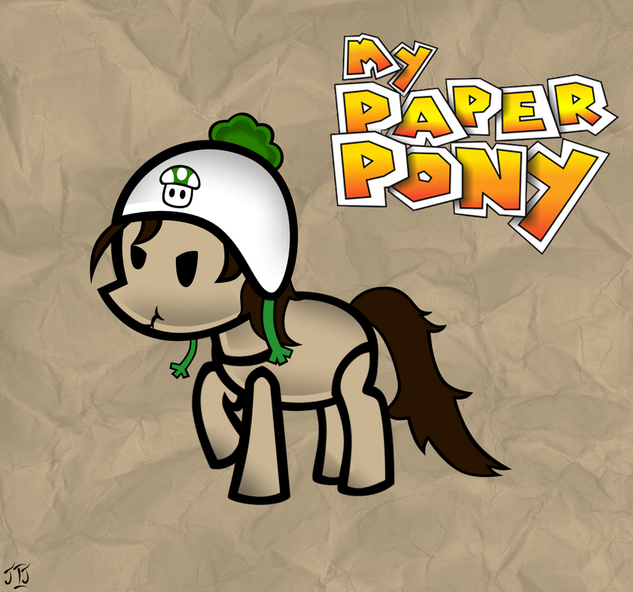 Paper Pony Commissioned By Darkblaze09  by MLP-Scribbles