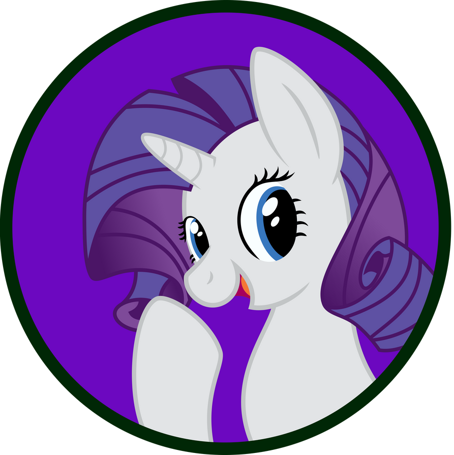 Rarity Buttion by MLP-Scribbles