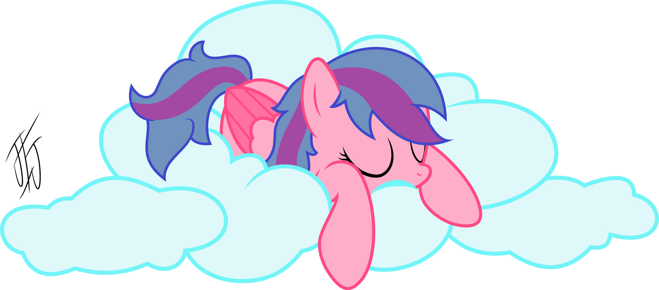 Cotton Candy On A Cloud by MLP-Scribbles