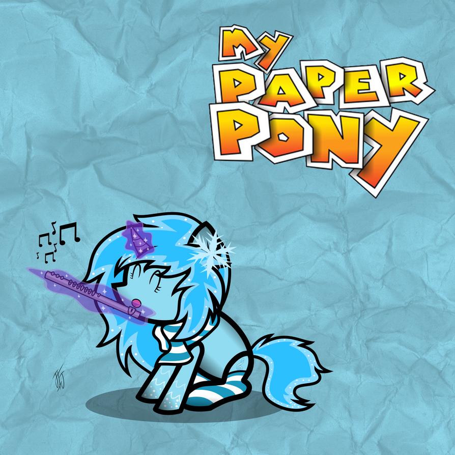 My Paper Pony Krystal Melody by MLP-Scribbles