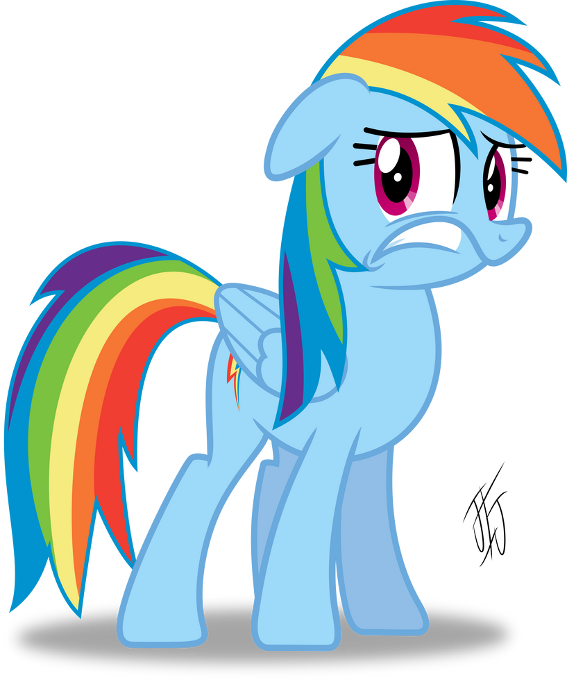 Rainbow Dash Is Scared by MLP-Scribbles