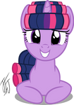 Twilight Sparkle In Hair Curlers