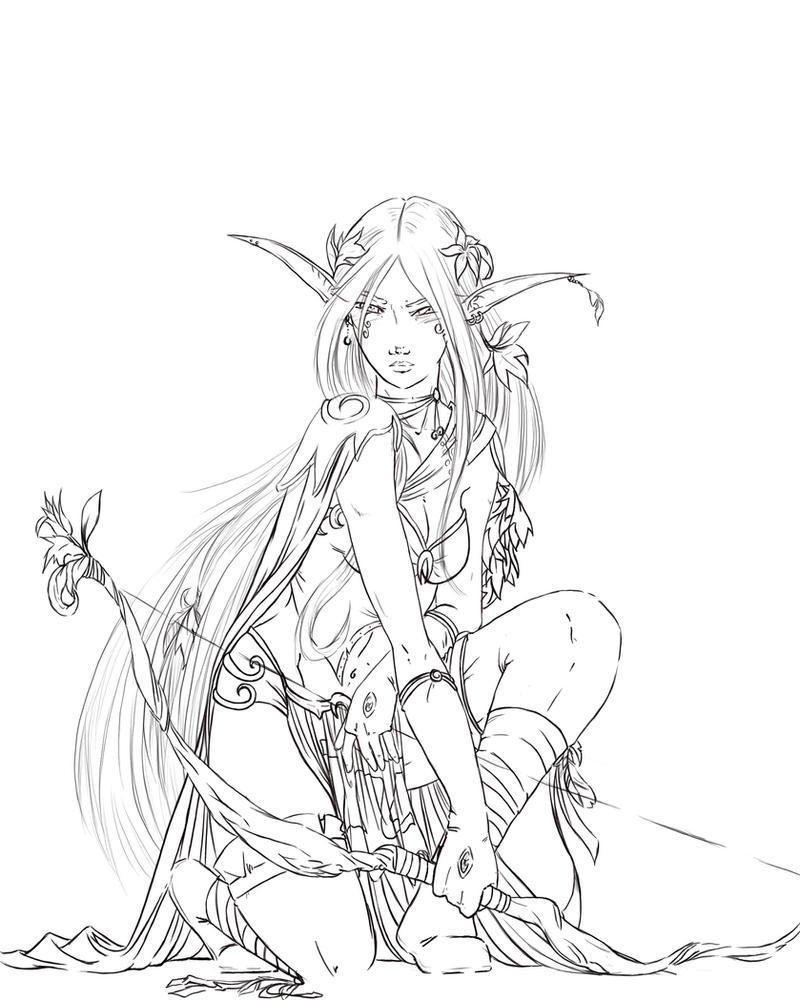 Warhammer Elf by justonewing