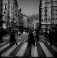 Crossing in Madrid by Buri65