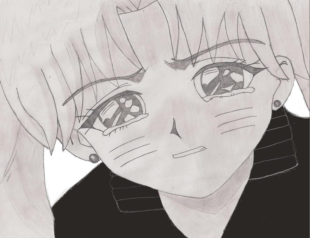 Line Drawing Of Sad Face : Sad naruko by azhure on deviantart