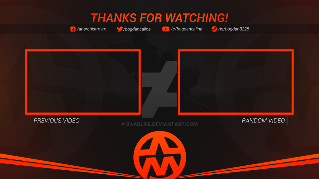 Youtube outro anarchist mvm by baadlife on deviantart for Outro image