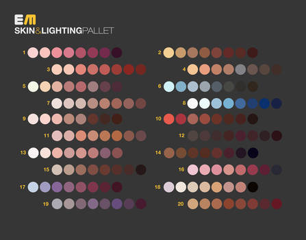 Skin and Lighting Pallet
