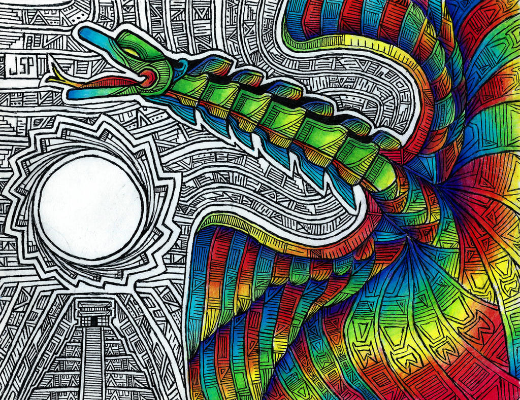 Flight of Quetzalcoatl by Psyconaut419