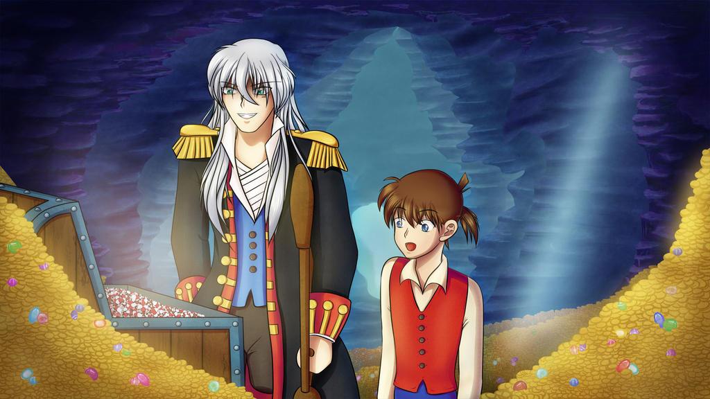 Treasure Island with Detectives by KleeneOnigiri