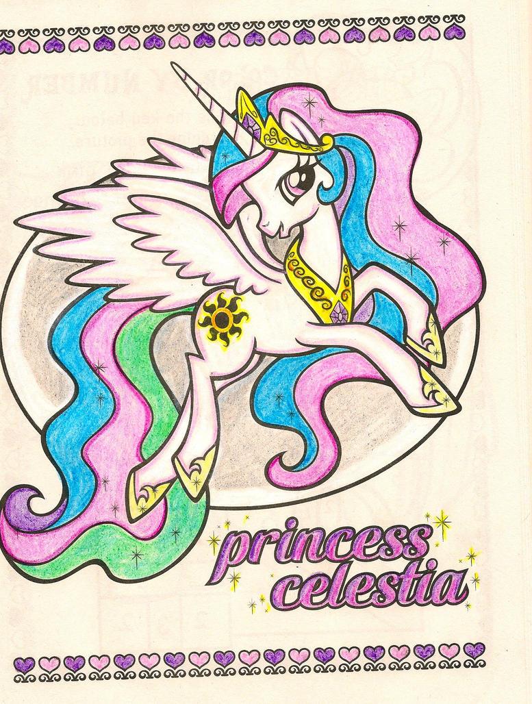 Princess celestia coloring page - Princess Celestia Coloring Book Page By Angelleo76