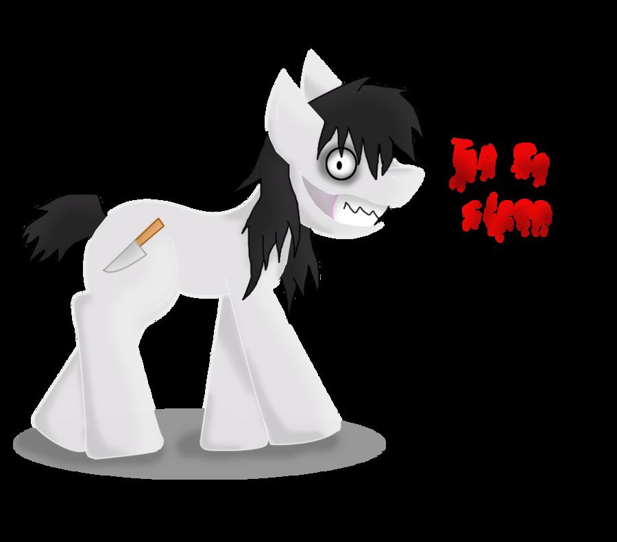 jeff the killer pony by ingart15