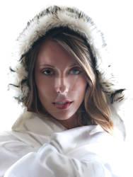 White furry hood