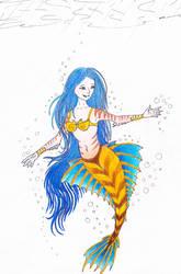 mermaid, colored by iguanadragon4