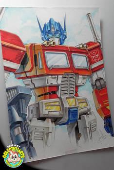 Optimus Prime aux markers