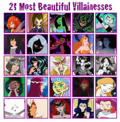 25 Most Beautiful Villainesses