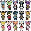 Animal Crossing Bears Sprites by RaspberryFanta