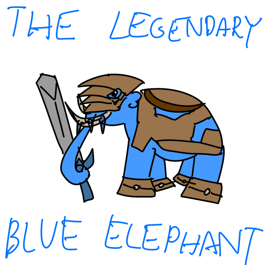 The Legendary Blue Elephant by Book-Of-Creation