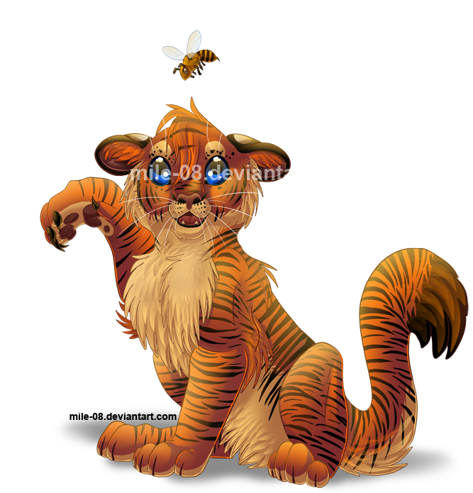 Mile's Gallery! Chibi_commission__tiger__by_mile_08-d3kg589