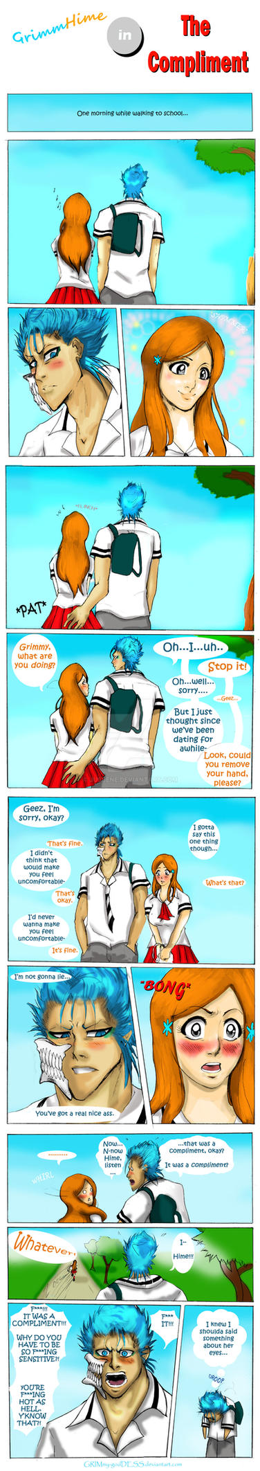 Short Comic: The Compliment by Jusbene