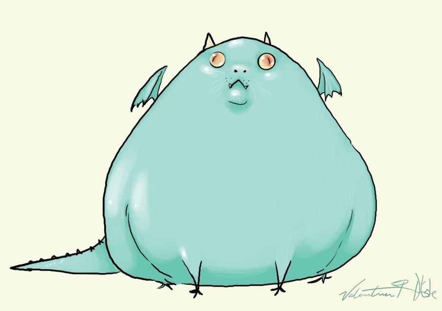 Cute Fat Dragon by ValentinaRDEste on DeviantArt