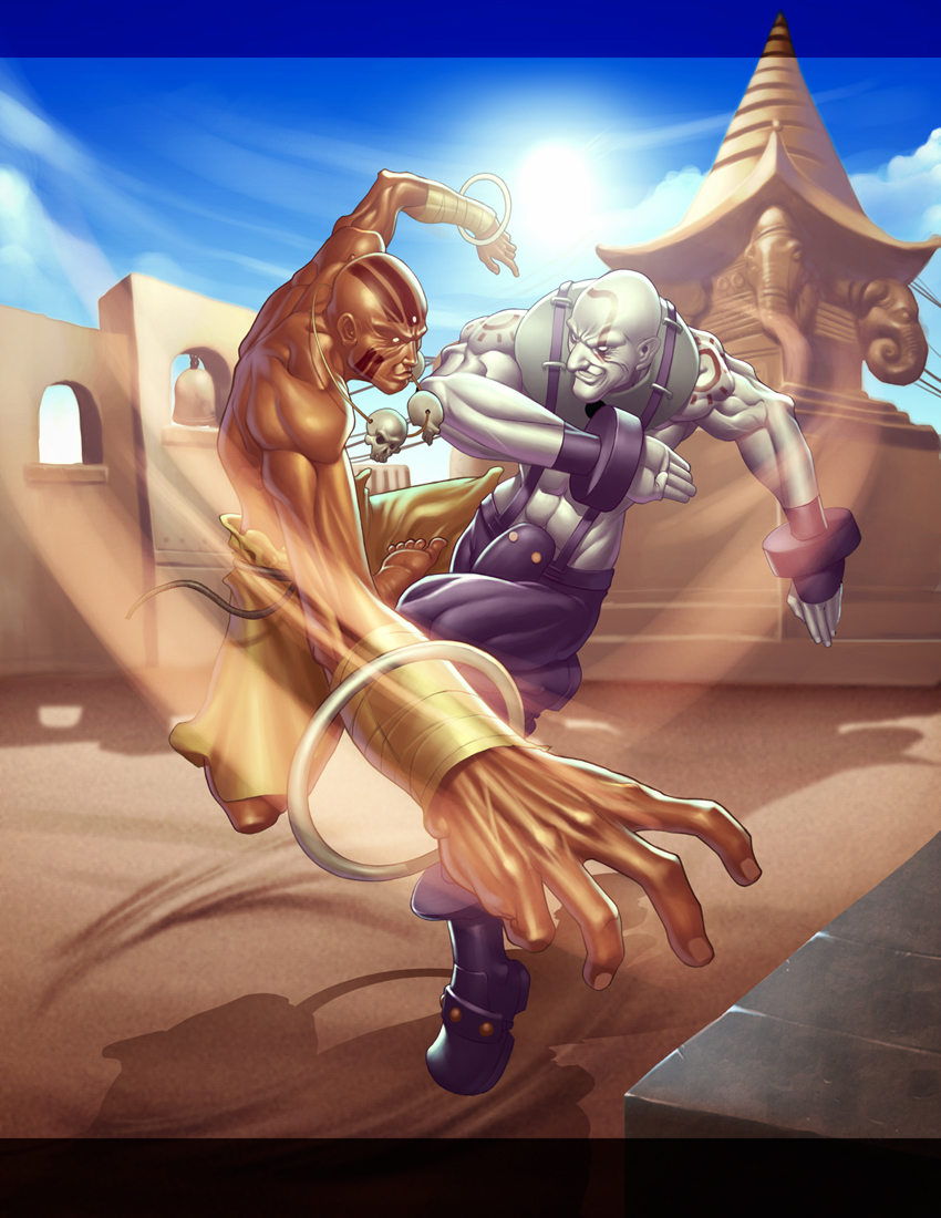dhalsim vs. necro by DXSinfinite