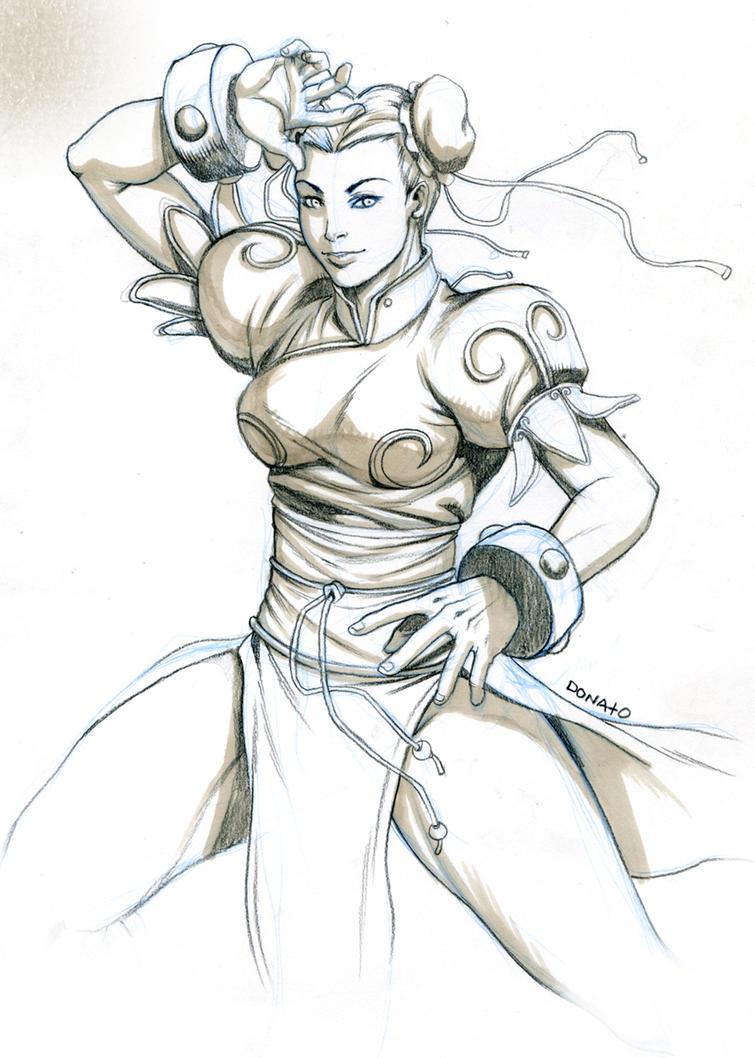 chunli sketch by DXSinfinite