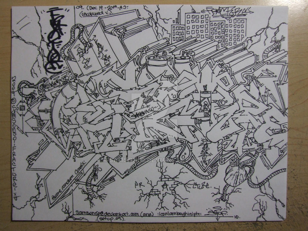 FRACTURE graffiti uncoloured by Samson50
