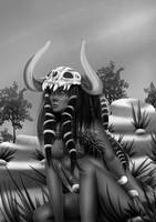 Tribal black and white by Stefdiamel