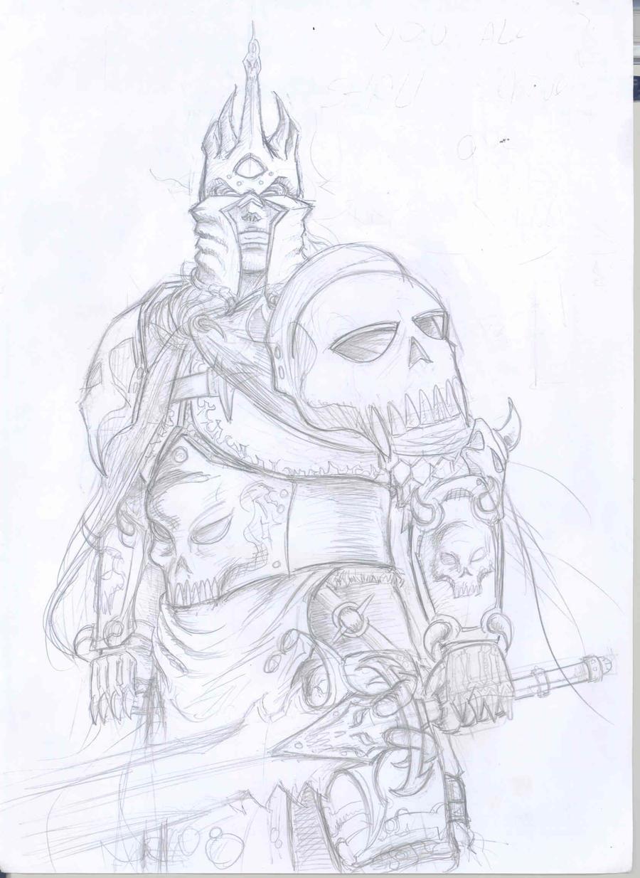 Рисунок короля лича