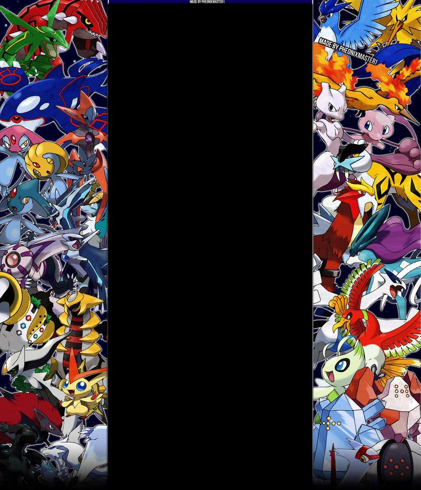Legendary Pokemon Youtube background by Pheonixmaster1