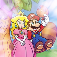 Mario and Peach Icon by Pheonixmaster1