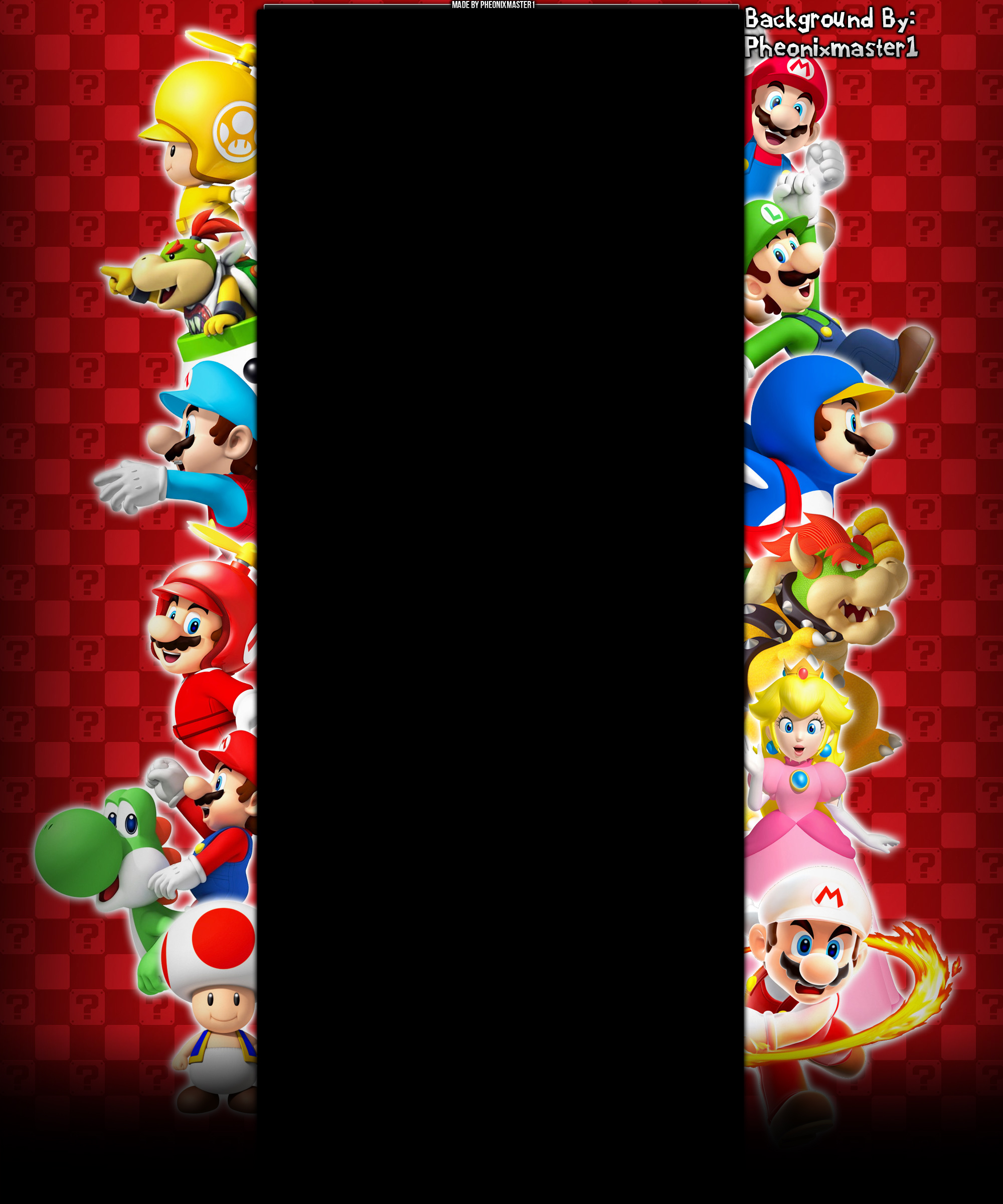New Super Mario Bros Ds Wii Youtube Background By Pheonixmaster1