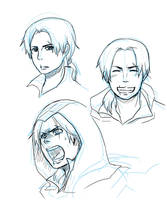 AC2: Youngish ezio expressions by qianying