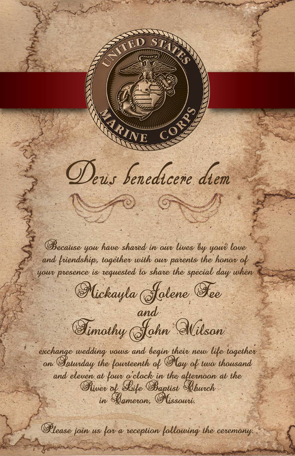 Wedding Invitation Inside by NoreLineas