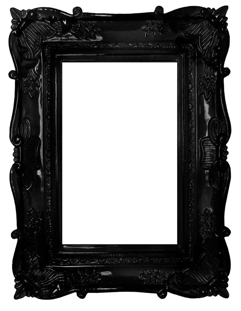 Black frame by darkrose42-stock