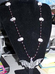 Skull and Bat necklace