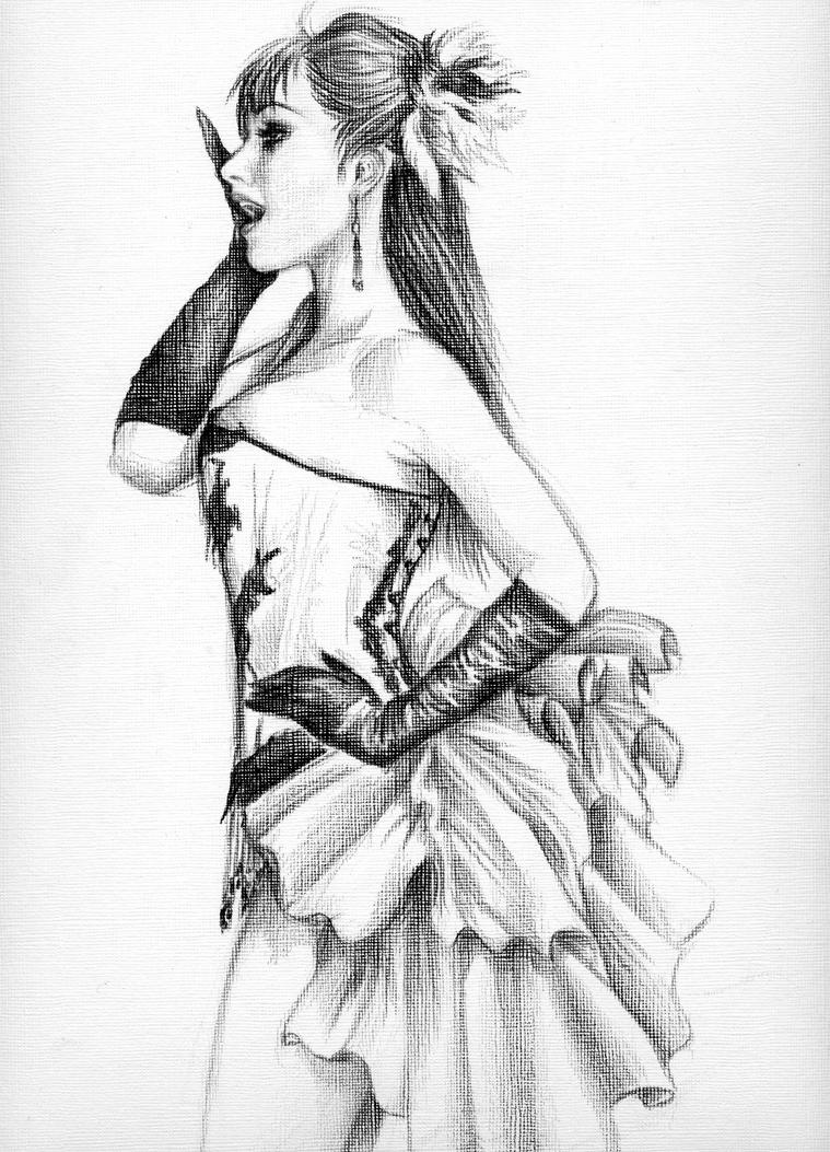 ...Drawing in black pencil... by DorianGothic on DeviantArt
