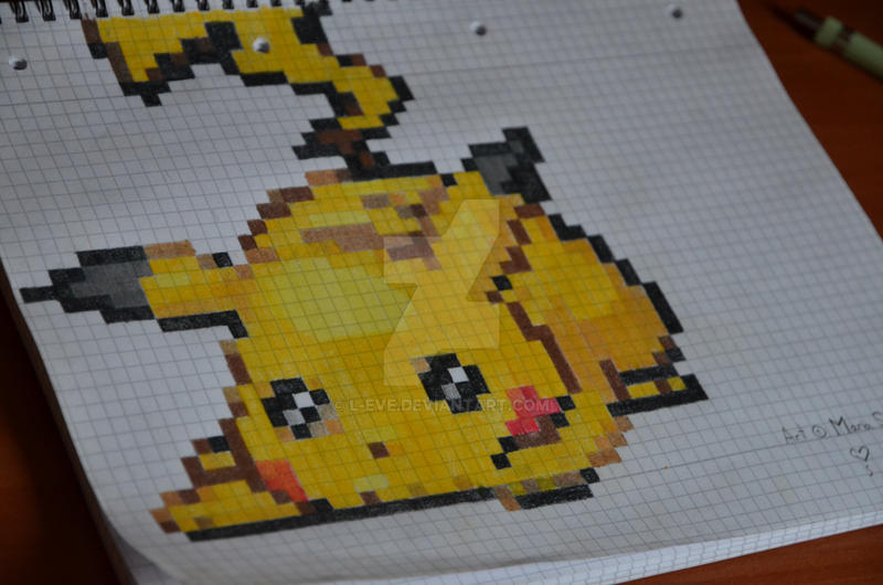 Pikachu Pixel Art By L Eve On Deviantart